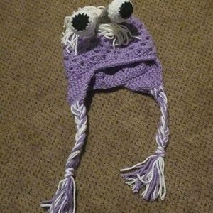 Boo from Monsters Inc. crochet hat for infant